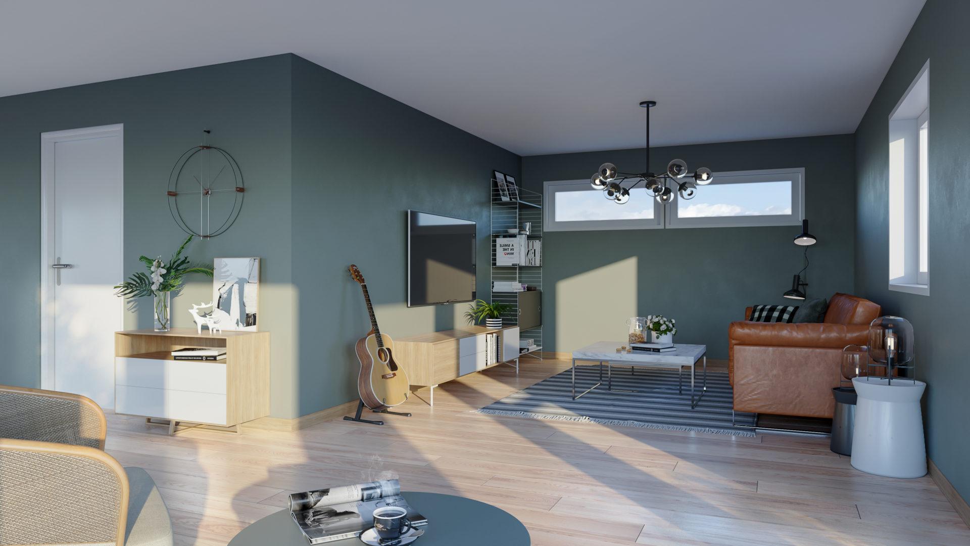 Stue/Kjøkken bolig 1