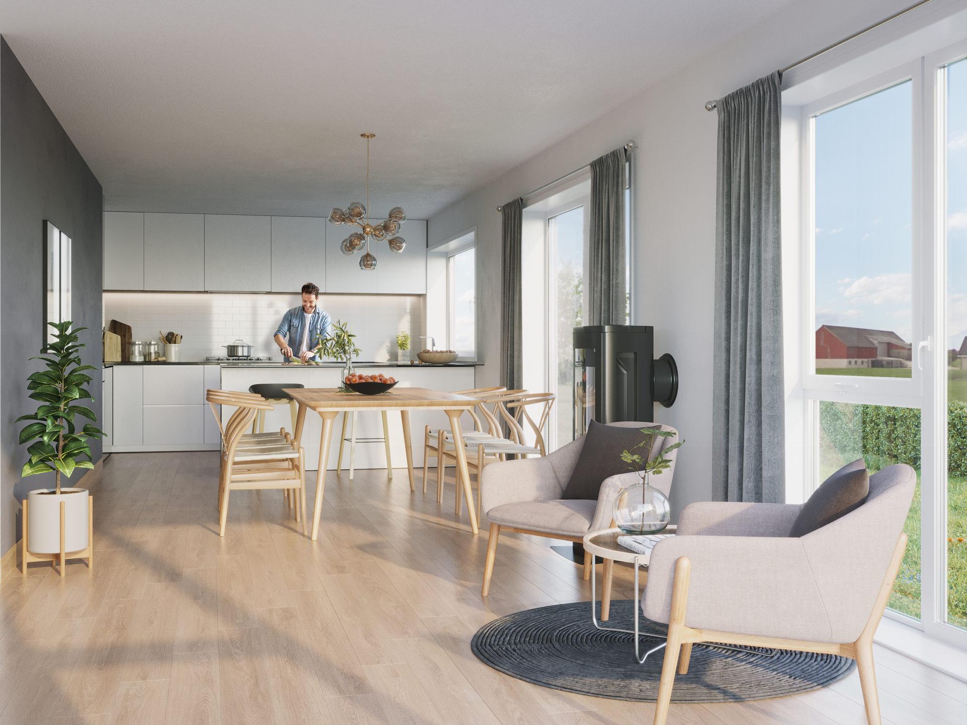 Kjøkken/Stue bolig 5